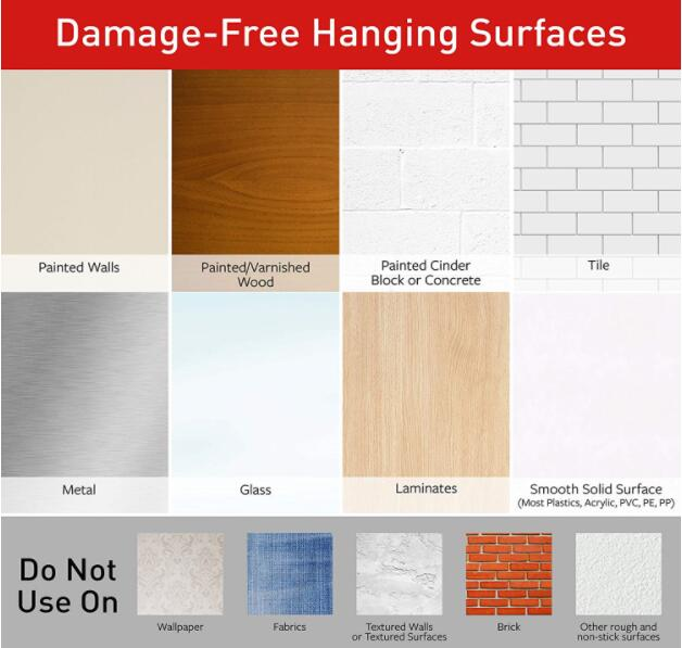 Command Strips, Hang picture frames